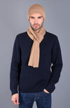 camel heavy thick and warm winter merino wool scarf