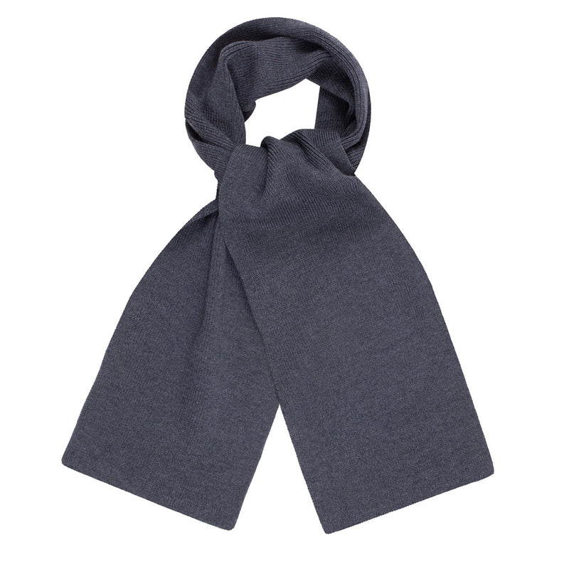 charcoal heavy thick and warm winter merino wool scarf