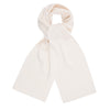 off white heavy thick and warm winter merino wool scarf