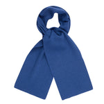 blue heavy thick and warm winter merino wool scarf