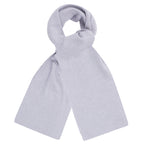 light grey heavy thick and warm winter merino wool scarf
