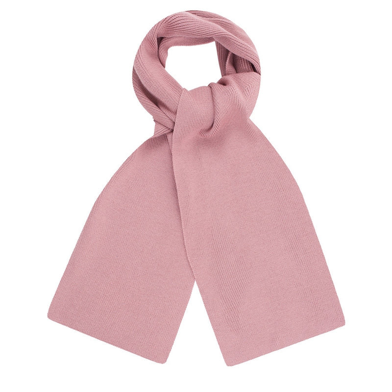 pink heavy thick and warm winter merino wool scarf