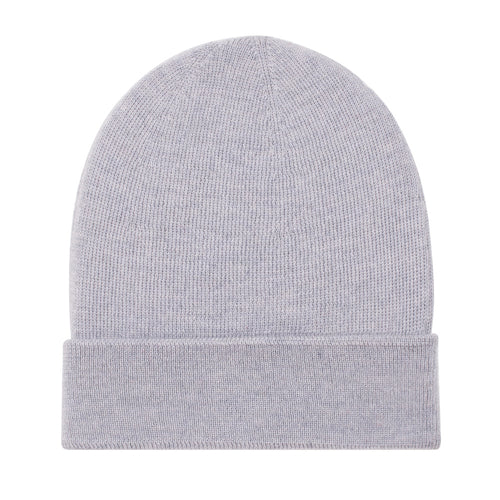 light grey winter fine wool thin beanie hat