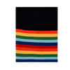 black rainbow merino wool snood and neck warmer