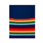 navy rainbow merino wool snood and neck warmer