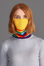 Rainbow Merino Snood with a PM2.5 Filter Pocket