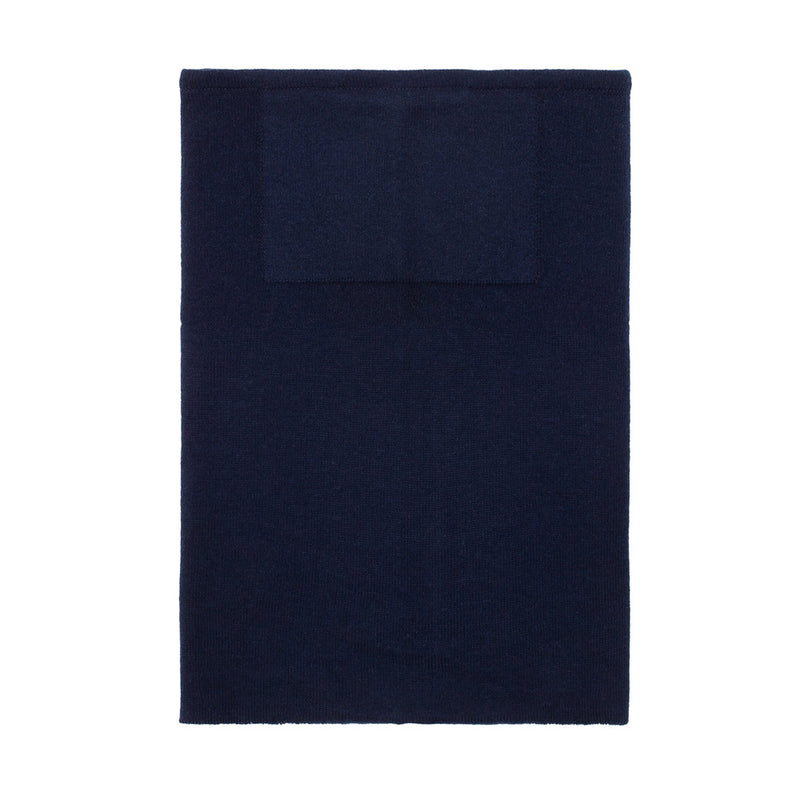 navy merino wool snood and neck warmer