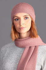 pink merino wool beanie and warm winter hat