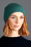 sage green winter merino wool beanie hat