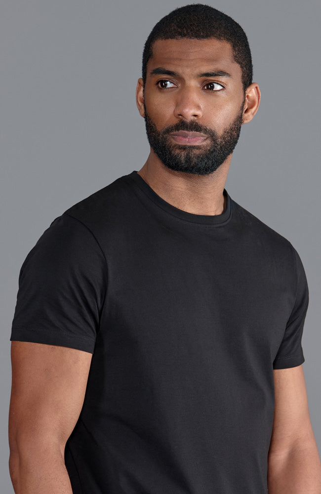 mens luxury black supima cotton lightweight t shirt