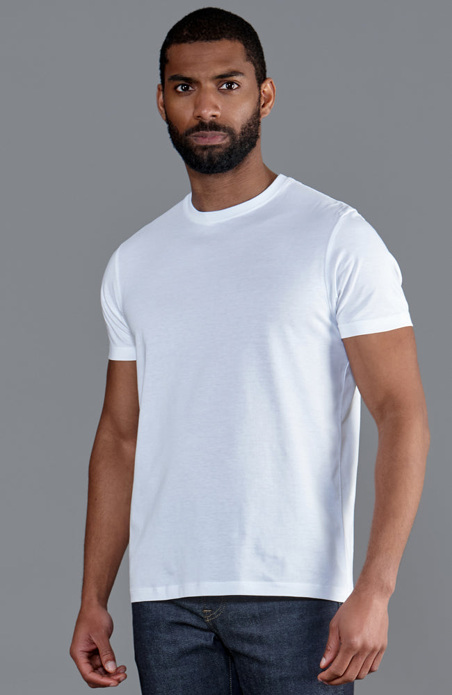 mens white thin supima cotton luxury t shirt