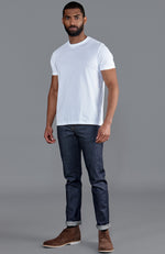 mens white luxury fitted heavyweight thick supima cotton t shirt