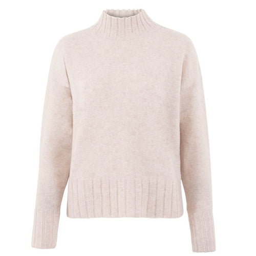 womens mock neck cosy jumper front