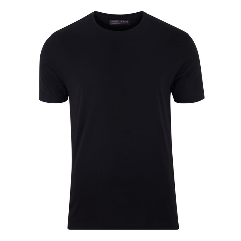 mens black thick luxury supima cotton t shirt