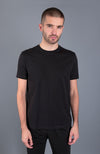mens luxury supima cotton black t-shirt