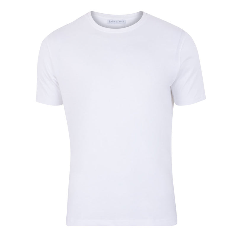 mens white thick luxury supima cotton t shirt