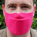 hot pink sustainable face mask with n95 filter made in great britain