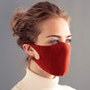 orange cotton breathable washable face mask made in england