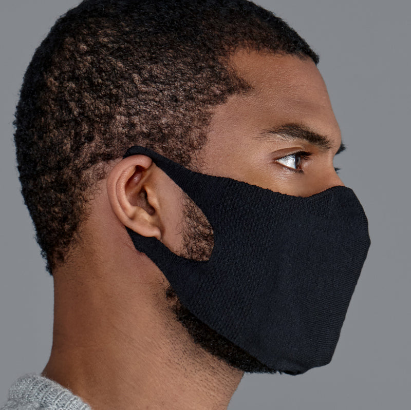 black comfortable cotton face mask