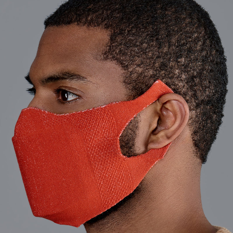 mens orange comfortable cotton face mask