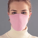 pink cotton breathable washable face mask made in england