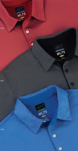 Greg Norman - Throwback Play Dry ML75 Nailhead Jacquard Polo Shirt