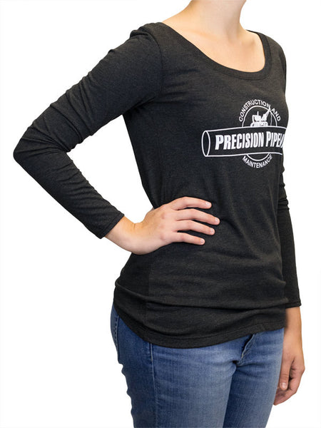 Next Level - Throwback Ladies Triblend Long Sleeve Scoop