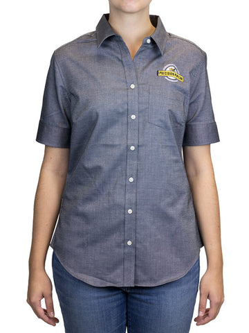 Port Authority - Throwback Ladies Short Sleeve SuperPro Oxford Shirt