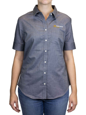 Port Authority - Ladies Short Sleeve SuperPro Oxford Shirt