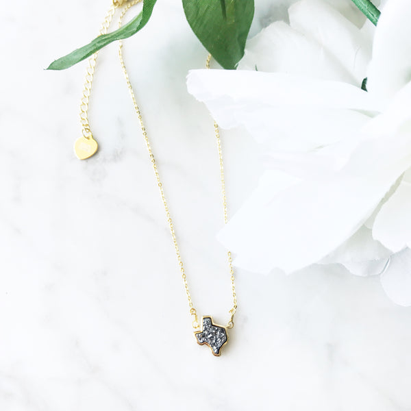 Releasing our brand New and Exclusive Texas Druzy necklace!