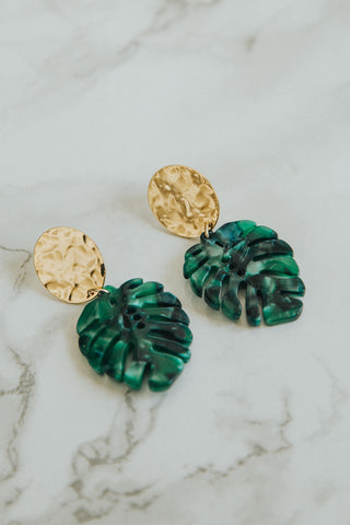 Unique Earrings Black Agate