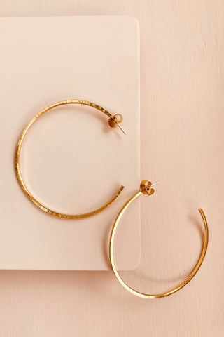 Sun hoops mini - Hammered