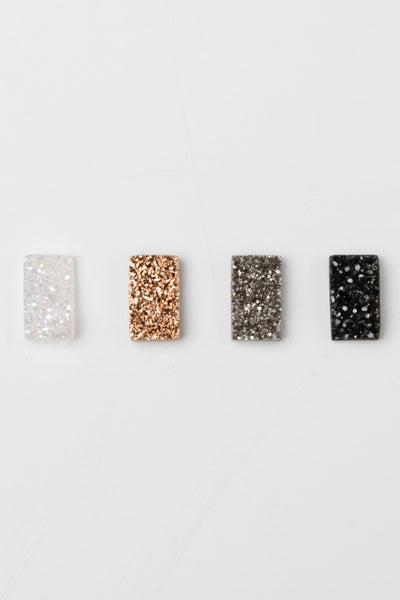 Spica Druzy Studs Medium in black