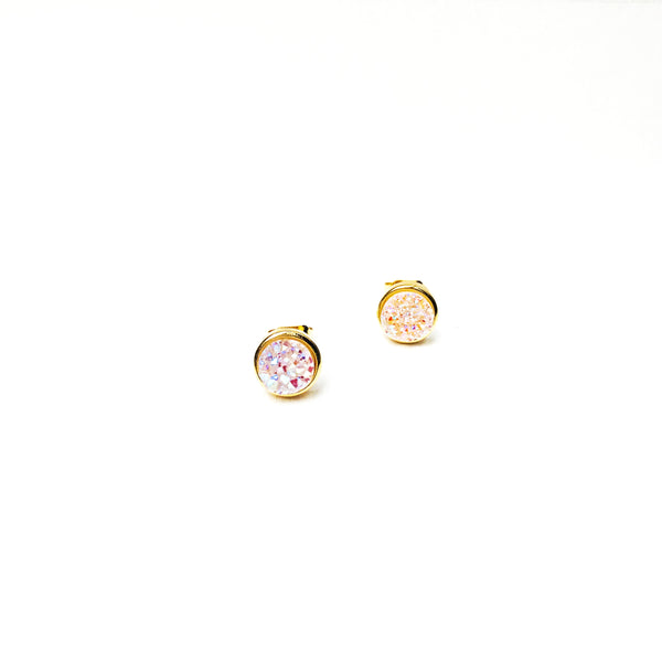Fleur Earrings Mini in White