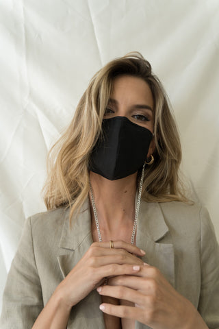 Silk mask - black