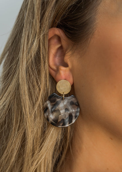 Acrylic Black Earrings