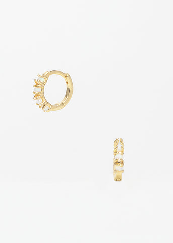 Spica Druzy studs Medium in white