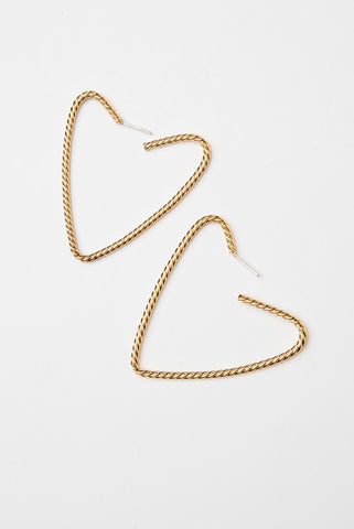 Mini heart side hoops