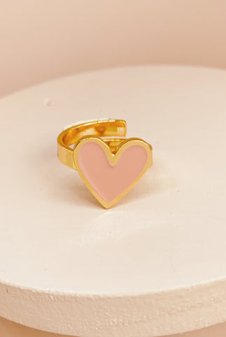 Druzy ring rose gold