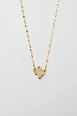 TEXAS INITIAL NECKLACE