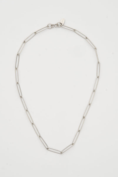 Paperclip choker silver