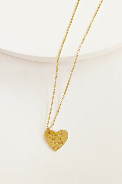 WAKE ME EVERY MORNING WITH THE SOUND OF YOUR VOICE NECKLACE