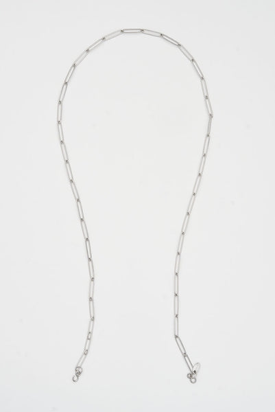 Silver paperclip mask chain