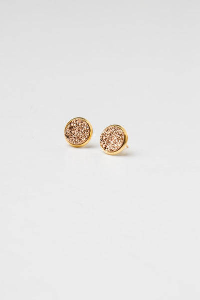 Spica Druzy studs Medium in rose gold