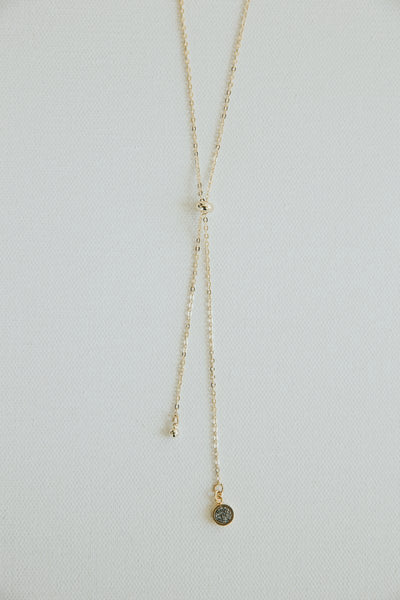 Spica Lariat Necklace Siver