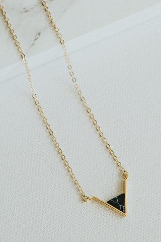 Marble Triangle Black