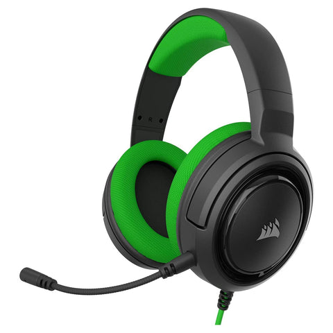 Corsair HS35 Stereo Gaming Headset for Xbox One, PS4, Nintendo Switch and Mobile - Green - GameShop Malaysia