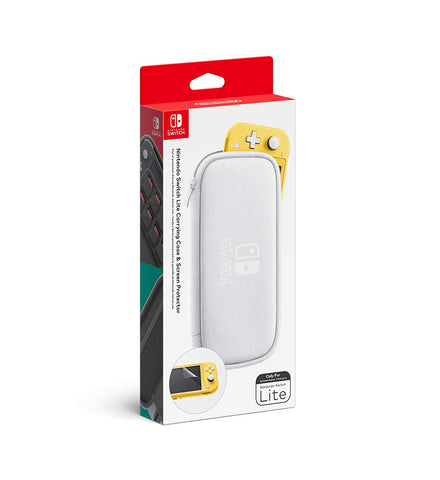Nintendo Switch Lite Carrying Case with Screen Protector White