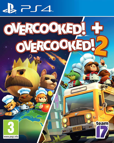Overcooked! + Overcooked! 2 Double Pack (PS4)