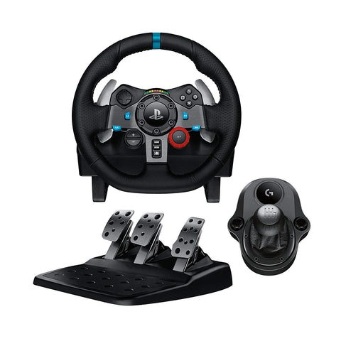 Logitech G29 Driving Force Racing Wheel with Gear Shifter Bundle
